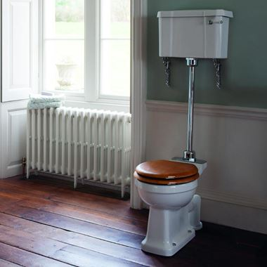 Burlington Medium Level Toilet & Soft Close Seat - 730mm Projection