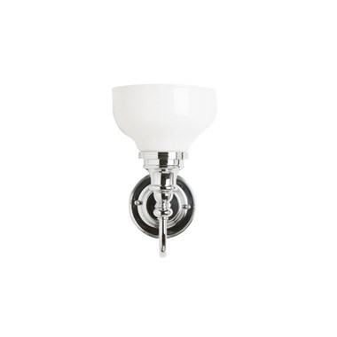 Burlington Ornate Wall Light with Frosted Glass Cup Shade