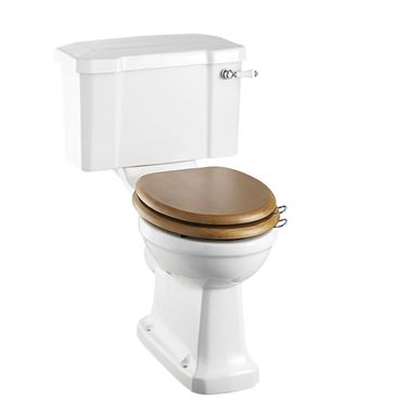 Burlington Rimless Close Coupled Toilet & Seat - 730mm Projection