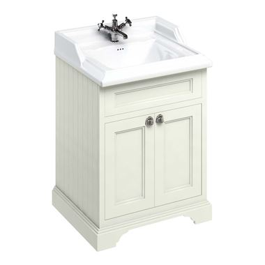 Burlington Freestanding Sand Vanity Unit with 1 Tap Hole Classic Basin - 654mm