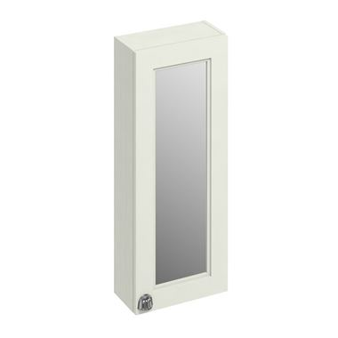 Burlington 30cm Mirrored Single Door Wall Mounted Mirrored Cabinet - Sand
