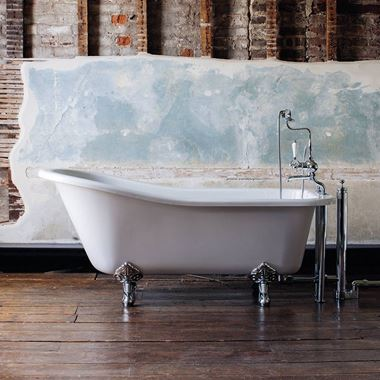 Burlington Harewood Slipper Bath with Luxury Feet - 1690 x 730mm
