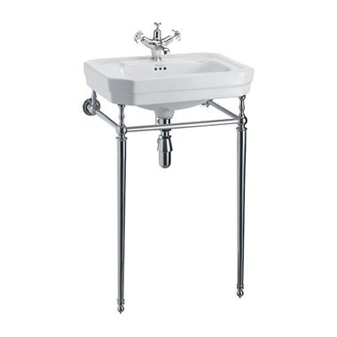 Burlington Victorian 56cm Basin with Regal Height Chrome Basin Stand