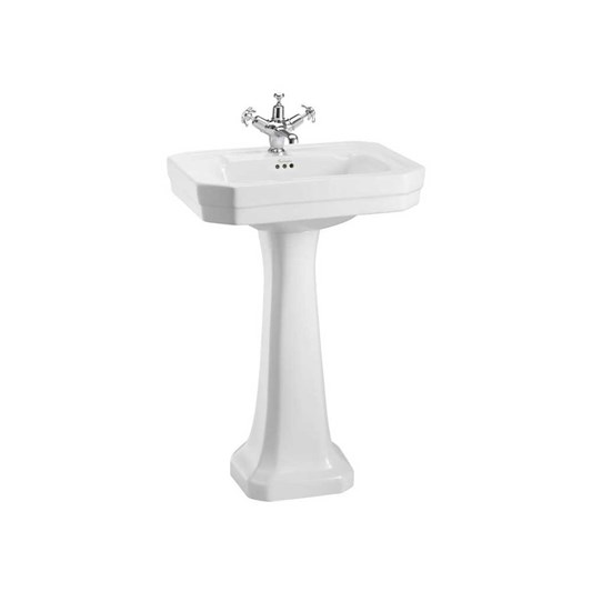 Burlington Victorian 56cm Basin with Pedestal