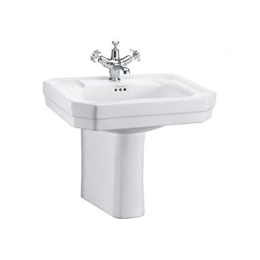 Burlington Victorian 61cm Basin with Semi-Pedestal