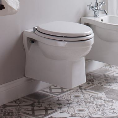 Burlington Wall Hung Toilet & Soft Close Seat - 500mm Projection