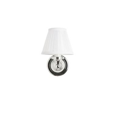 Burlington Wall Light with White Fine Pleated Shade