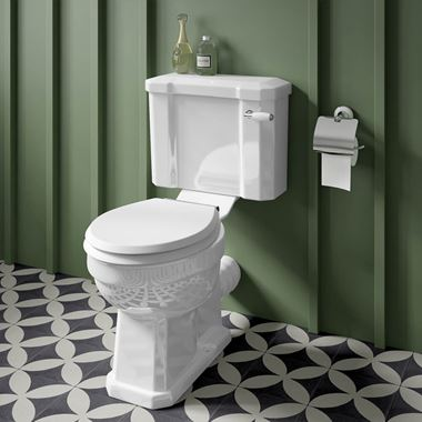 Butler & Rose Catherine Traditional Close Coupled Toilet (Excluding Seat) - 690mm Projection