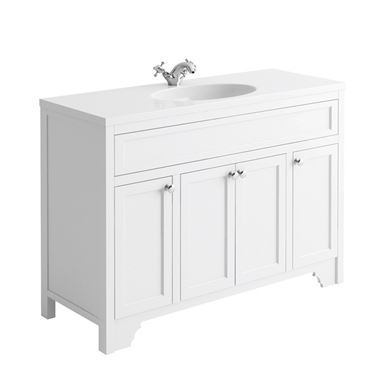 Butler & Rose Beatrice 1200mm Floorstanding Single Basin Vanity Unit - Arctic White