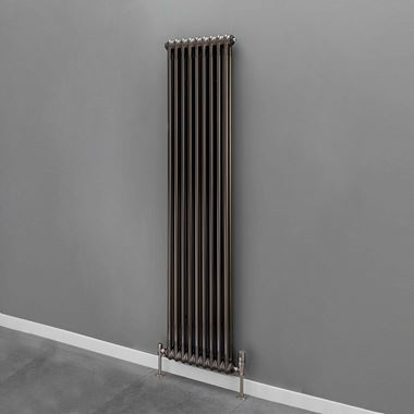 Butler & Rose 2 Column Vertical Radiator - Bare Metal Lacquer Finish - 1800 x 609mm