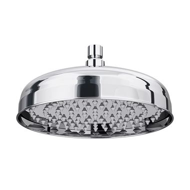 Butler & Rose Elizabeth 210mm Traditional Easy Clean Fixed Shower Head with Swivel Joint