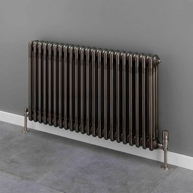Butler & Rose 3 Column Horizontal Radiator - Bare Metal Lacquer Finish - 500mm & 600mm