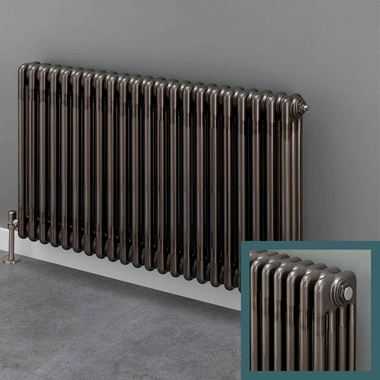 Butler & Rose 4 Column Horizontal Radiator - Bare Metal Lacquer Finish - 500mm & 600mm