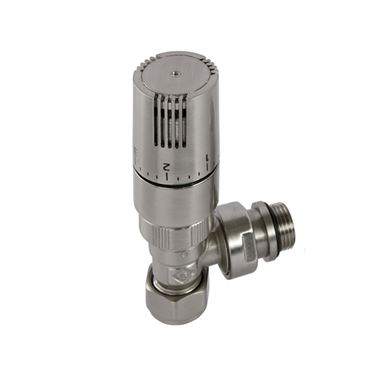 Butler & Rose Angled Thermostatic Radiator Valves - Nickel