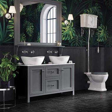 Butler & Rose Audrey 1200mm Floorstanding Countertop Vanity Unit - Spa Grey