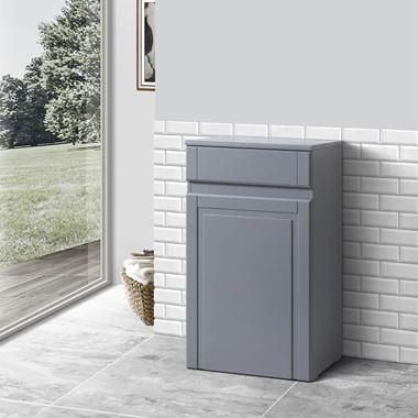Butler & Rose Darcy 500mm Back to Wall Toilet Unit - Matt Grey