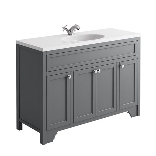 Butler & Rose Beatrice 1200mm Floorstanding Single Basin Vanity Unit - Spa Grey
