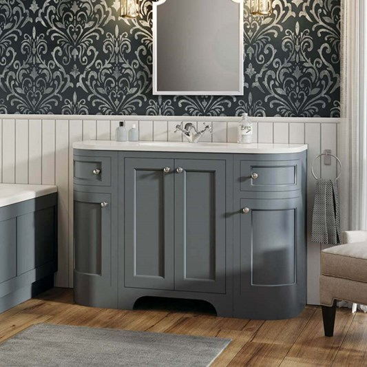 Butler & Rose Benedict 1200mm Floorstanding Vanity Unit & Basin - Spa Grey