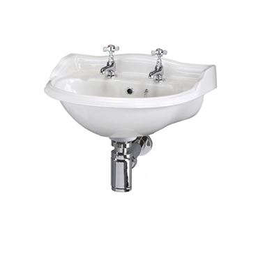 Butler & Rose Benedict 500mm Basin & Bottle Trap - 2 Tap Hole