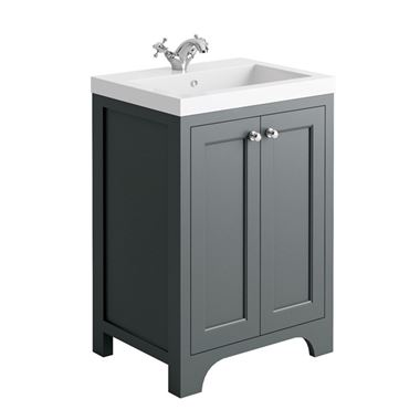 Butler & Rose Benedict 600mm Floorstanding Vanity Unit & Basin - Spa Grey