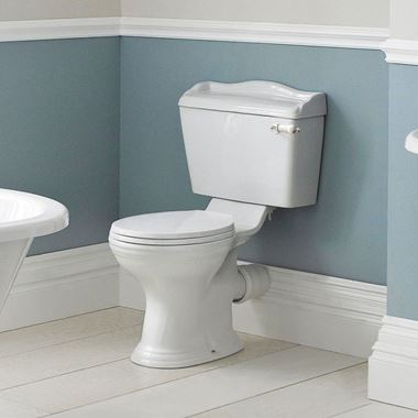 Butler & Rose Benedict Traditional Close-Coupled Toilet (Excluding Seat) - 725mm Projection