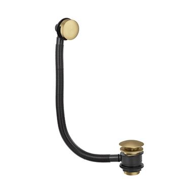 Butler & Rose Beatrice Brushed Brass Click Clack Bath Waste & Overflow