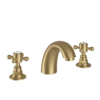 Butler & Rose Beatrice Brushed Brass 3 Hole Basin Mixer Tap