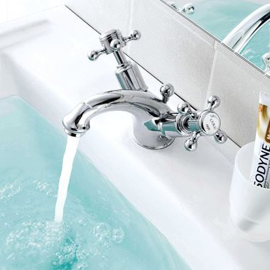 Butler & Rose Caledonia Cross Basin Mixer Tap With Pop-Up Waste
