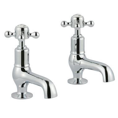 Butler & Rose Caledonia Cross Cloakroom Basin Pillar Taps