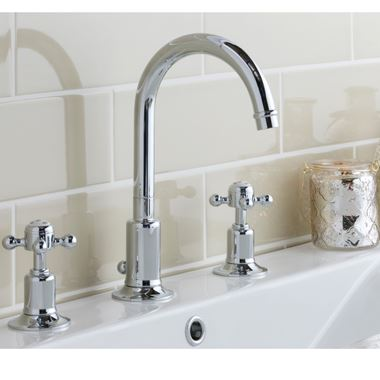 Butler & Rose Caledonia Cross 3 Hole Basin Mixer Tap