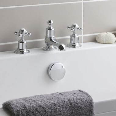 Butler & Rose Caledonia Cross 3 Hole Deck Mounted Bath Filler Tap