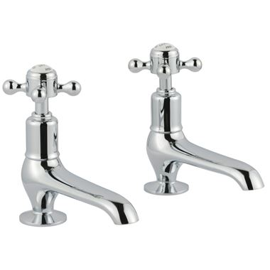 Butler & Rose Caledonia Cross Basin Pillar Taps