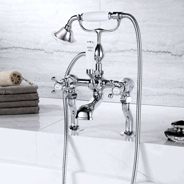 Butler & Rose Caledonia Cross Deck Mounted Bath Shower Mixer With Kit