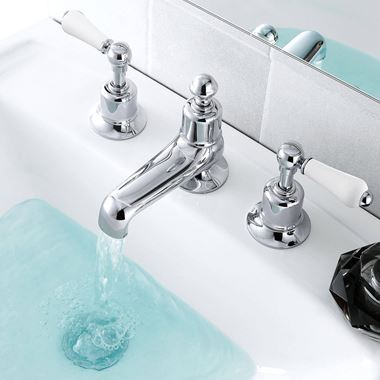 Butler & Rose Caledonia Lever 3 Hole Deck Mounted Basin Mixer Tap