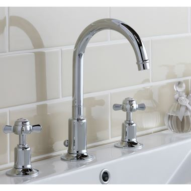Butler & Rose Caledonia Pinch 3 Hole Basin Mixer Tap