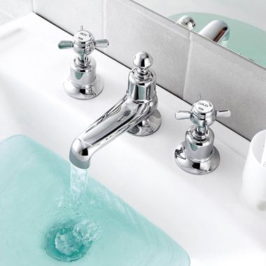 Butler & Rose Caledonia Pinch 3 Hole Deck Mounted Basin Mixer Tap