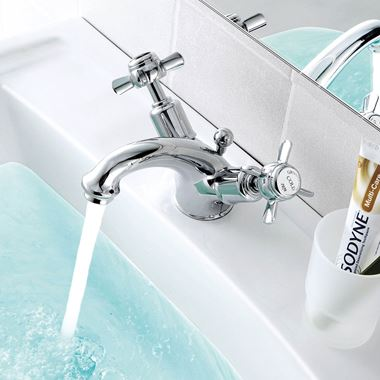 Butler & Rose Caledonia Pinch Basin Mixer Tap With Pop-Up Waste