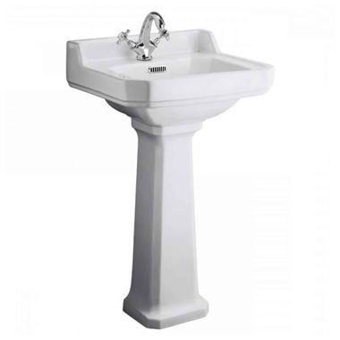 Butler & Rose Catherine 500mm Full Pedestal & Basin - 1 Tap Hole