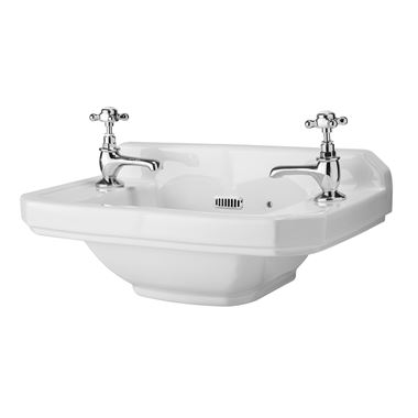 Butler & Rose Catherine 515mm Cloakroom Basin - 2 Tap Hole