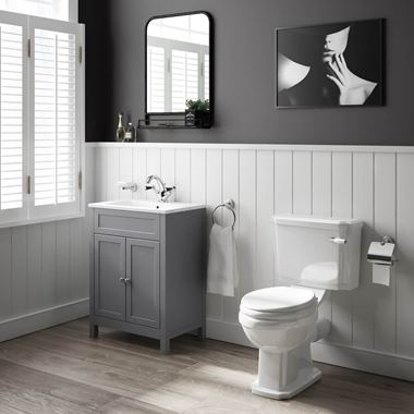 Butler & Rose Catherine Bathroom Suite with Vanity Unit, Toilet & Soft Close Seat