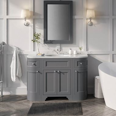 Butler & Rose Charlotte 1200mm Floorstanding Vanity Unit & Basin - Spa Grey