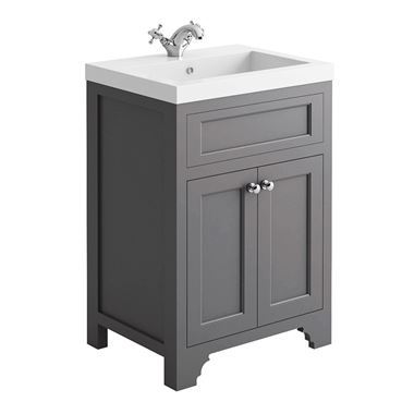 Butler & Rose Charlotte 600mm Vanity Unit - Spa Grey