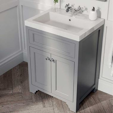 Butler & Rose Charlotte 600mm Floorstanding Vanity Unit & Basin - Dovetail Grey