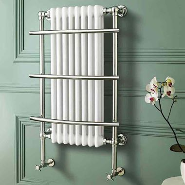 Butler & Rose Golden Eye Traditional Heated Towel Rail Radiator - 1000 x 630mm