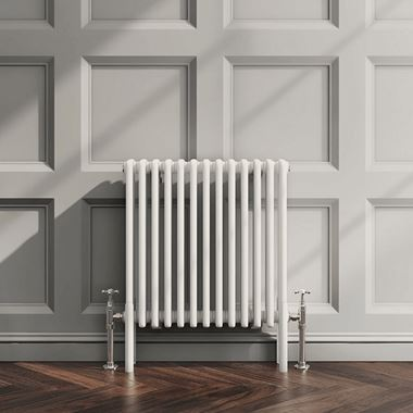 Butler & Rose Horizontal Designer Column Style White Radiator