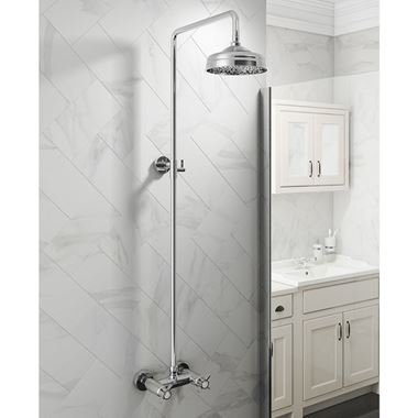 Butler & Rose Elizabeth Rigid Riser Thermostatic Shower Valve Set