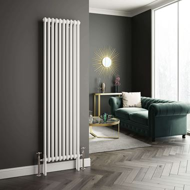 Butler & Rose Vertical Designer Column Style White Radiator