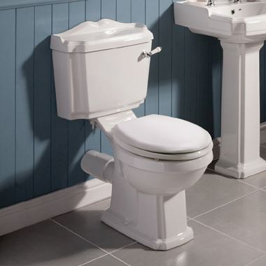 Butler & Rose Winston Traditional Close Coupled Toilet & Seat - 760mm Projection