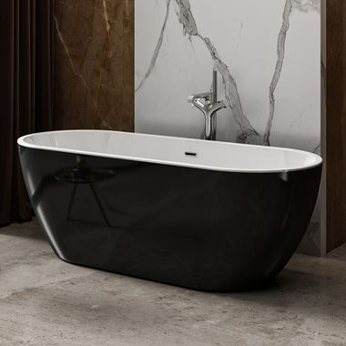 Charlotte Edwards Belgravia Black Freestanding Bath
