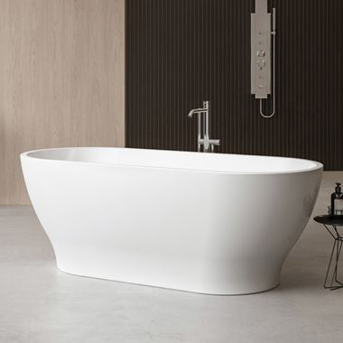 Charlotte Edwards Elara White Freestanding Bath - 1700 x 800mm